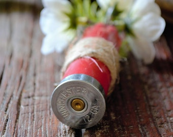 Shotgun Shell Boutonniere with Twine