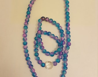 Shiny pink and blue jewelry