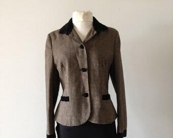 Original Laura ashley tartan vintage Jacket 1980s