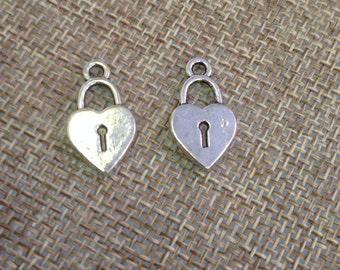 heart lock charms