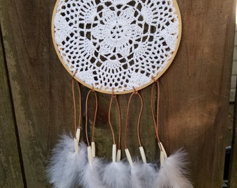 White Doily Dreamcatcher // Dream Catcher // Free Shipping
