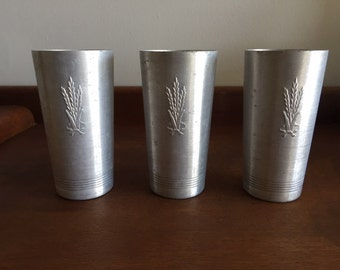 Vintage West Bend Company Aluminum Tumbler- Set of 3