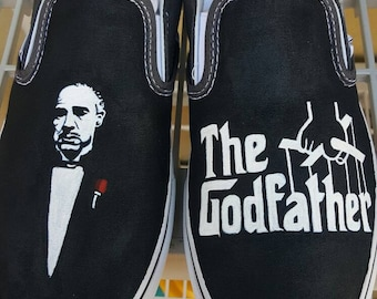 The Godfather hand painted shoes