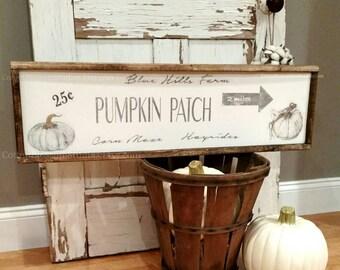 Fall Sign -Pumpkin Patch Sign - Corn maze - Hayrides - Farmhouse Sign - Farmhouse Fall Decor - White Pumpkin Sign - Cotton Blossom Stuido