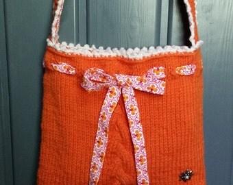 "Handbag ""Berta"" in orange"