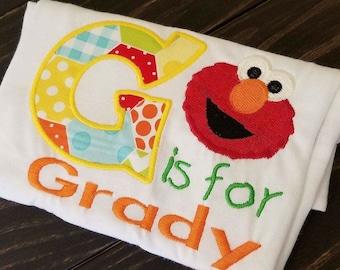 Elmo birthday shirt