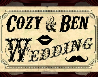 Custom Large Carnival Wedding Banner