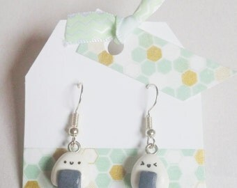 kawaii rice ball onigiri earrings