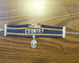 Country Bracelet With Charm