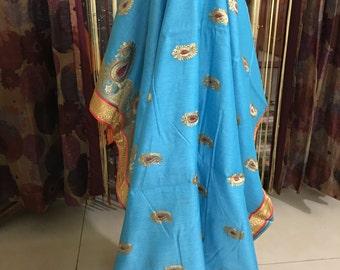 Beautiful cotton Chanderi saree