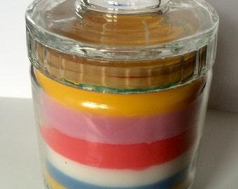 Handmade Multi-Colored Multi-Scented 2 wick Candle