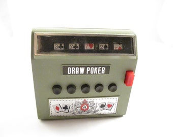 Vintage Waco Draw Poker Cordless Electric Full Automatic Handheld Game Circa 1971 Gambling Machine