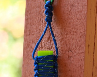 Bic Lighter Paracord Tactical Keychain