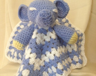 Crochet Elephant Cuddle Blanket