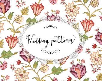 Wedding vintage floral pattern
