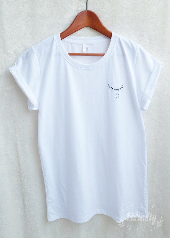 Cry baby embroidered shirt fashion t unisex clothing