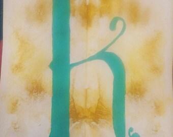 Ink blot Letters