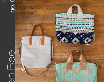 Green Bee Patterns - The On Holiday Bag
