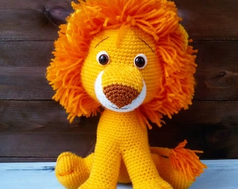 Crochet amigurumi toy Lion, crochet amigurumi animals, stuffed toy, handmade plush soft toy