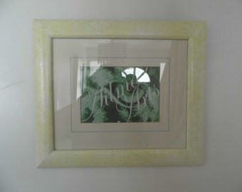 Refurbished frame, Paint effect,24.9cm by 29.7cm