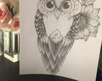 8x11 print of the owl