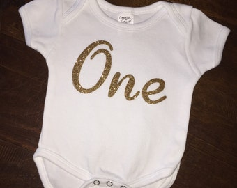 First birthday onesie, baby first birthday, one onesie, first birthday onesie