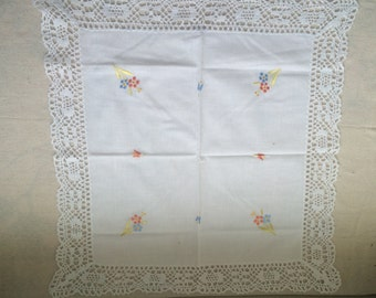 Vintage Embroidered Table Square