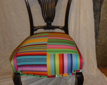 Beautiful gothic stripy patchwork chair