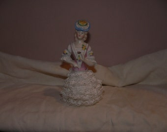 Ceramic and Lace Doll