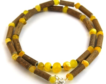 "22"" Hazelwood & Milk and Butter Baltic Amber Necklace"
