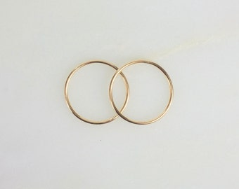 19mm 14k Gold Filled 18ga CLOSED Jump Rings, Made in the USA