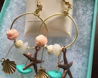 Beach Sunrise Dangle Earrings