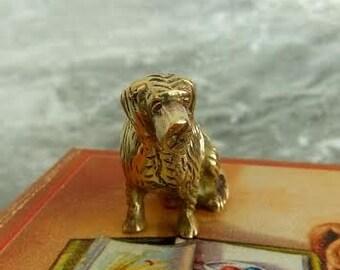 St Bernard solid brass dog