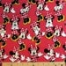 "Disney Fabric - Disney Minnie Poses Allover Red 100% cotton 43"" Fabric by the yard,A278"