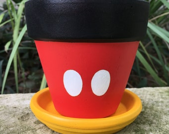 Mickey Mouse inspired flower pot