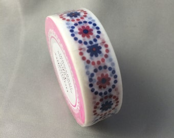 Red and Blue Flowered Washi tape