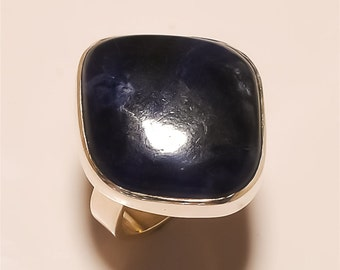 SODALITE RING Solid Sterling Silver