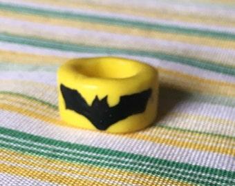 "Superhero inspired ""Batman"" Dread Bead, Dreadlock Accessories, Bohemian Hair Jewelry, Bead"