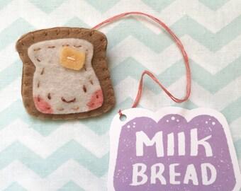 Toasty Butter Bread Brooch // Handmade // Felt