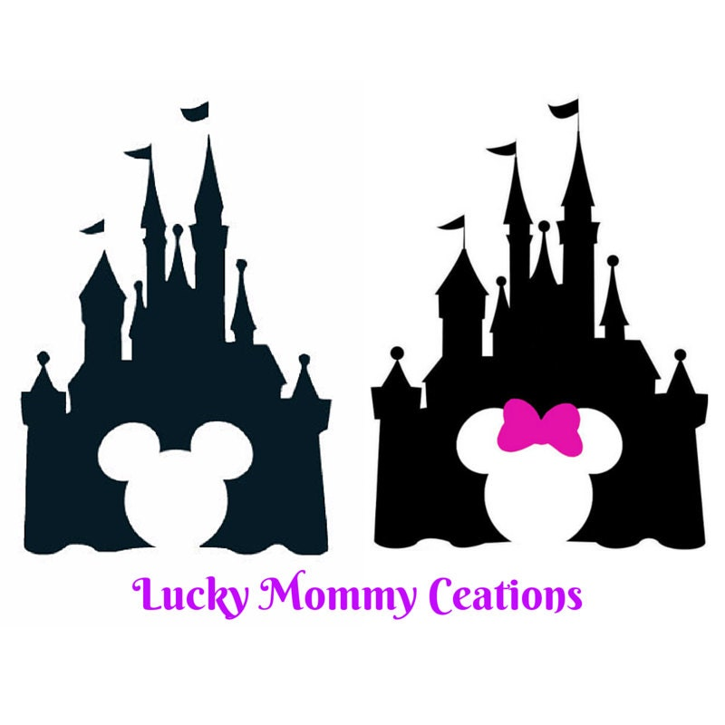 disney castle silhouette decal mickey mouse by luckymommycreations
