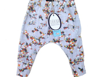 68 Mt-Butterfly baby harem pants