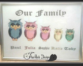 Animal Family, Personalised Picture