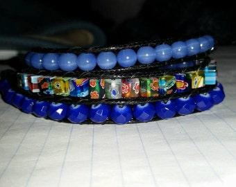 Blue Lady 3-Wrap Bracelet