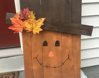 Reversible**Pallet wood scarecrow / Wooden Scarecrow