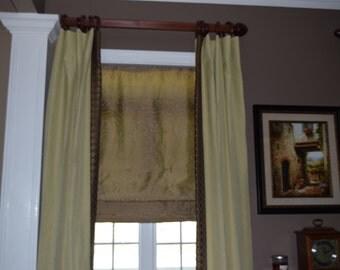 Roman shade, valance, privacy, window decor, door decor, curtain, topper, shade, blind