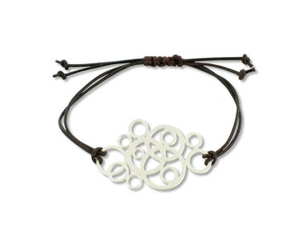 Bracelet circles, There is no right time or right moment, create them for yourself, take that first step, silver plated for her