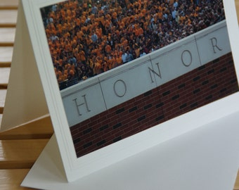 Photo Greeting Card, HONOR, TCF Stadium, University of Minnesota, Maroon and Gold, Minnesota Gophers, Place Gift Certificate Inside