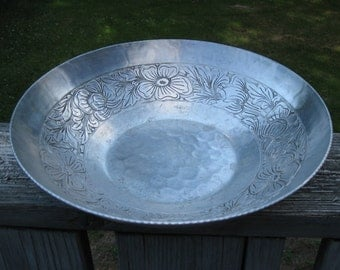 Vintage Hand Forged Aluminum Bowl By EMPC