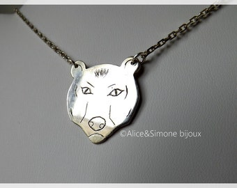 Bear necklace in Sterling Silver / handmade