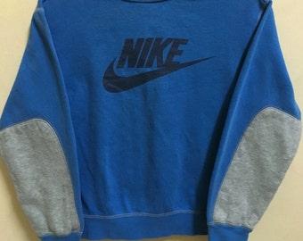 Vintage 90's Nike Air Sport Classic Design Skate Sweat Shirt Sweater Varsity Jacket Size S #A259